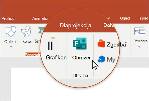 «Ikona» oblik v PowerPointu