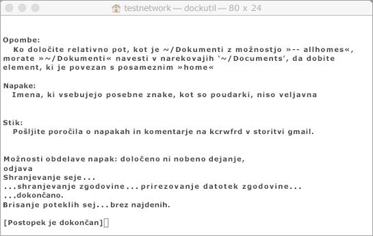Zaženite orodje Dockutil s Control + kliknite, če želite odpreti.