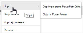 Elipsa meni datoteka odprta označena