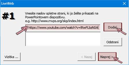 Prilepiti naslov https videoposnetka, ki ga želite vstaviti