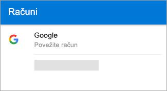 Outlook za Android lahko samodejno poišče vaš račun za Gmail.