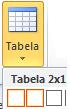 Vstavljanje tabele možnost