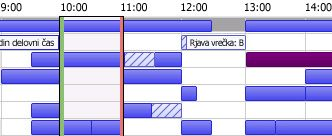 Mreža prostega/zasedenega časa v programu Outlook