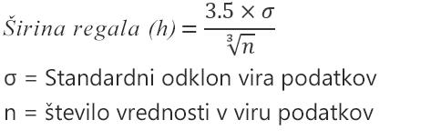 Formula za možnost »Samodejno«