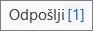 Posnetek zaslona, na katerem je prikazano sporočilo, ki je obtičalo v Outlookovi mapi »Odpošlji«