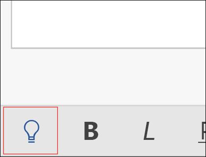 Kliknite žarnico, da aktivirate funkcijo »Pokaži mi«