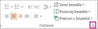Slika PowerPointovega traku