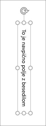 Navpično polje z besedilom z navpično besedilo
