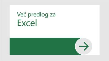 Več predlog za Excel