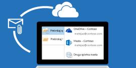 Ohranjanje nadzora nad prilogami v Outlooku