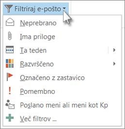 Filtriraj e-pošto