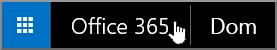 Gumb za premik na začetno stran sistema Office 365