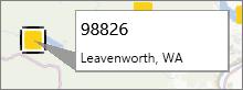 Opomba s poštno število v dodatku PowerMap
