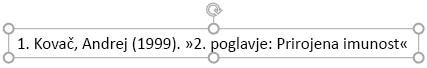 Besedilo sprotne opombe na dnu diapozitiva