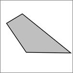 Pokaže zaprto prostoročno obliko s štirimi stranicami.