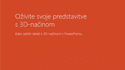 Posnetek zaslona naslovnice 3D-PowerPointove predloge
