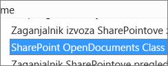 Omogočite kontrolnik ActiveX, imenovan »SharePoint OpenDocuments Class«
