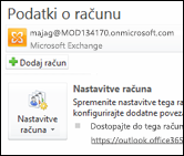 Dodajte nov e-poštni račun v programu Outlook 2010
