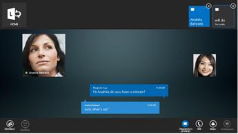 Posnetek zaslona pogovora z neposrednimi sporočili