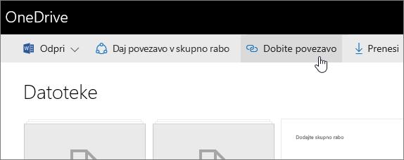 Skupna raba v spletu s storitvijo OneDrive za podjetja