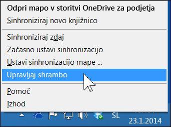 Upravljanje shrambe v storitvi OneDrive za podjetja