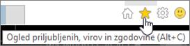 Gumb vira v Internet Explorerju