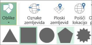 Možnosti oblik 3D-zemljevidov