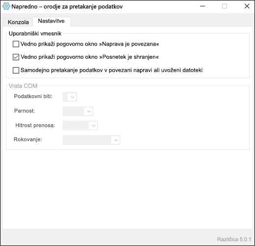 Zavihek» Dodatne nastavitve «v Excelu s podatki