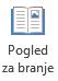 Pogled za branje je primerna za PowerPointovo predstavitev celozaslonskem načinu za branje, če je na voljo brez predstavitelja.
