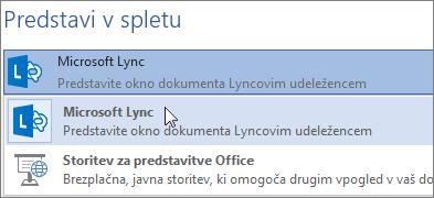 Predstavi v spletu z Microsoft Lyncom