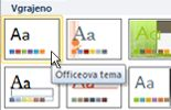 Kliknite »Officeove teme«