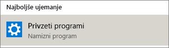 Privzeti programi v sistemu Windows