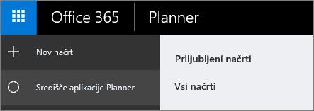 V aplikaciji Planner izberite »Nov načrt«.