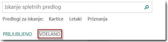 Stran s predlogami programa Publisher 2013.