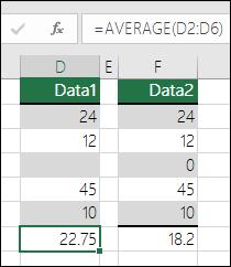 Excel prikaže napako, ko se formula sklicuje na prazne celice