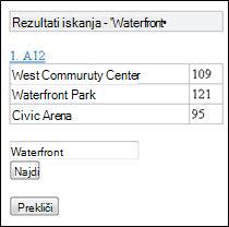 Rezultati iskanja v mobilnem pregledovalniku za Excel