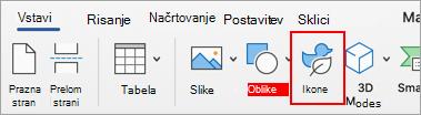 Izberite ikone.