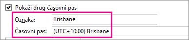 Časovni pas – Brisbane