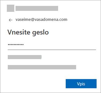 Vnesite geslo za e-poštni račun.