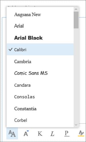 Spremenite vrsto pisave v Outlooku v spletu.