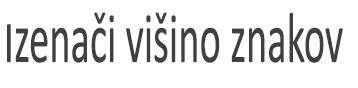 Besedilo, ki je oblikovano z možnostjo» izEnačitev višine znaka «