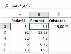 Množenje števil z odstotkom