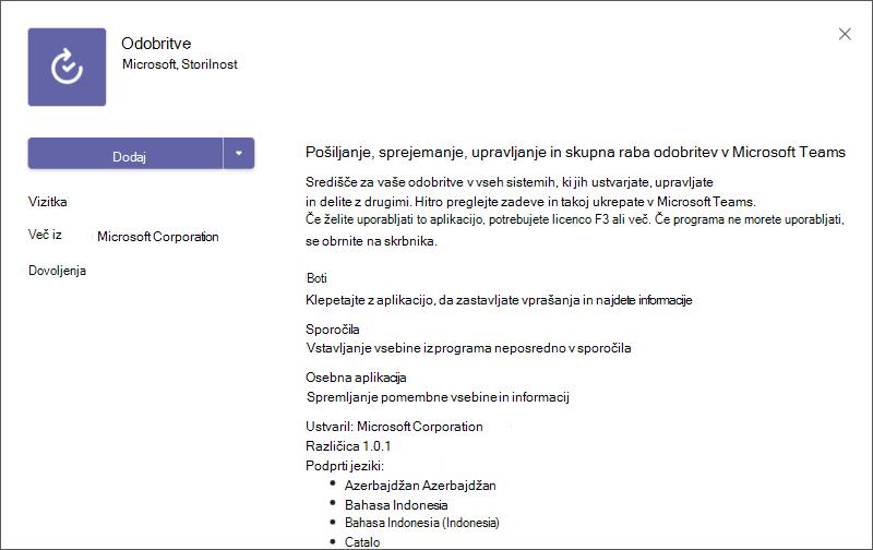 Primer opisa aplikacije