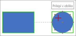Povezovanje s ciljno obliko z dinamično povezavo