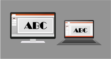 Upodobitev iste predstavitve v računalniku s sistemom Windows in v računalniku Mac in je videti enako