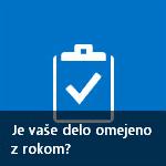 Ploščica »Delate na rok?« v spletnem gradniku »Začnite s svojim spletnim mestom«.