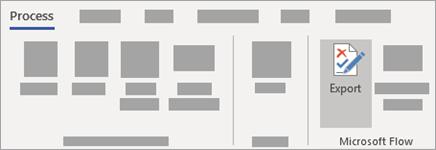 Na zavihku» proces «izberite» izvozi «v skupini» Microsoft Flow «.