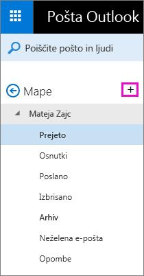 Ustvarjanje mape
