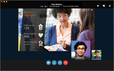 Skype za podjetja za Mac srečanja