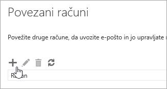 Posnetek zaslona gumba »Novo«.